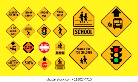set of cross street school sign.easy to modify