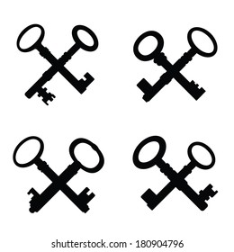 set of crossed keys