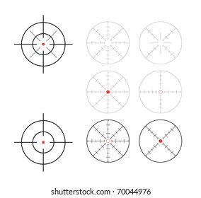 set of crosshairs - illustration