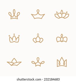 set of crowns and caps