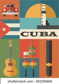 set of Cuba icons