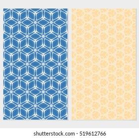 set of cube pattern. Creative design. Seamless geometry design. pastel color. Vector illustration.