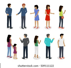 Set of customers and sellers characters vector templates. Flat style design. Man and woman making purchases and sell goods. Supermarket personnel, consumer choice and shopping in mall. Marketing