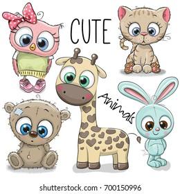 Cute Animals Cartoon Images Stock Photos Vectors Shutterstock
