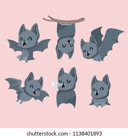 Set of cute bats.