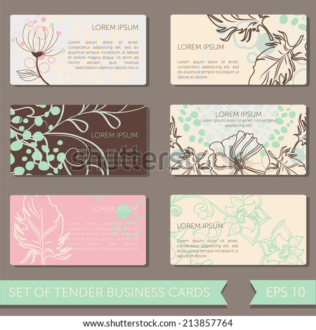 Set cute business cards templates vector stock vector royalty free set of cute business cards templates vector illustration accmission Choice Image