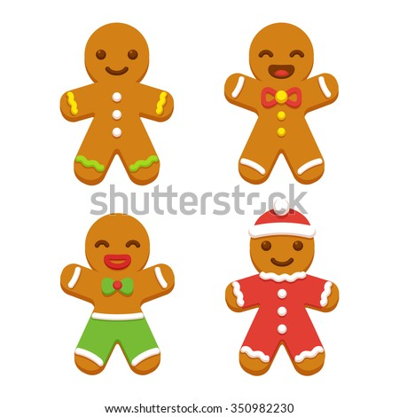 cute gingerbread cartoon