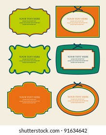 set of cute frames. vector illustration