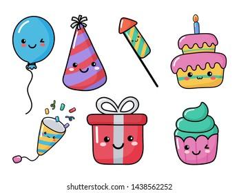 Stupendous Kawaii Birthday Cake Images Stock Photos Vectors Shutterstock Personalised Birthday Cards Akebfashionlily Jamesorg