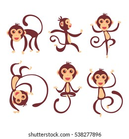 cartoon swinging monkey images stock photos vectors shutterstock