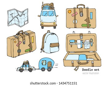 9be915329c7e Luggage Doodles Images, Stock Photos & Vectors | Shutterstock