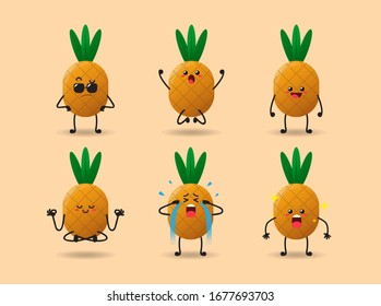 SET OF CUTE PINEAPPLE COLLECTION