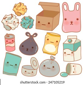 Set of Cute Rubbish - Vector file EPS10