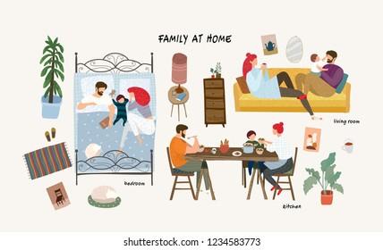 Fruhstuck Im Bett Stock Vectors Images Vector Art Shutterstock