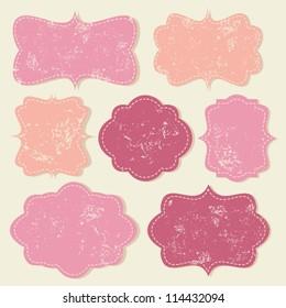 A set of cute vintage labels in pastel colors.