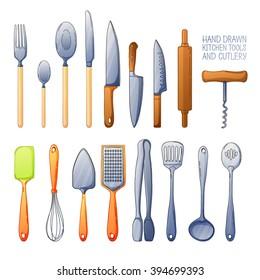 Cartoon Cooking Utensils Stock Illustrations Images Vectors