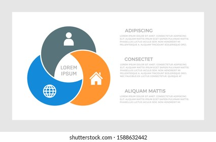 Set of dark gray, blue and orange elements for infographic presentation slides with charts, graphs, steps, circles.