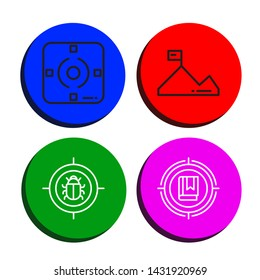 Set of dartboard icons such as Focus, Mission, Target , dartboard