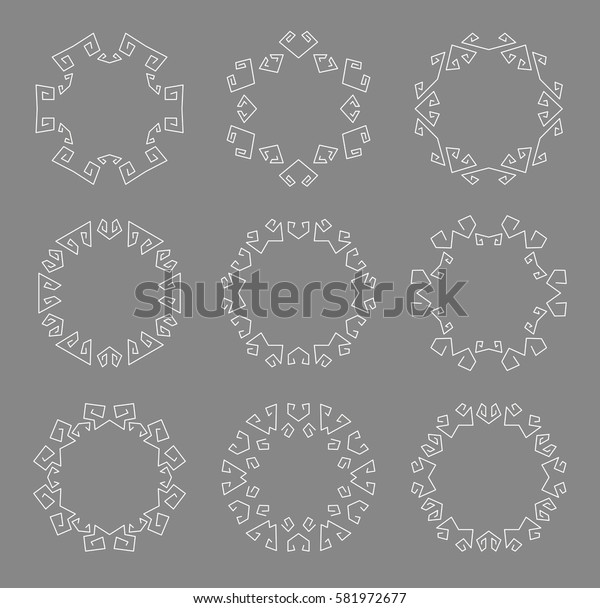 Set of Decoration Frame. Geometric lines. Vector