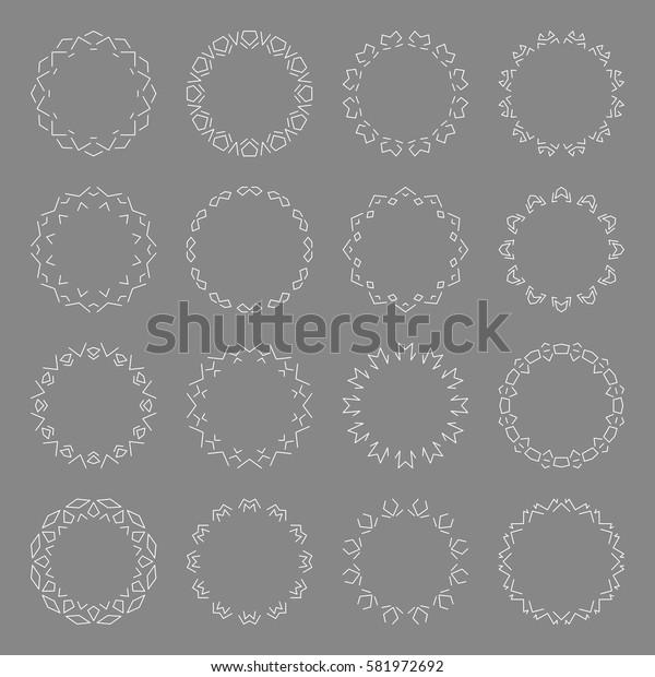 Set of Decoration Frame. Geometric lines. Vector