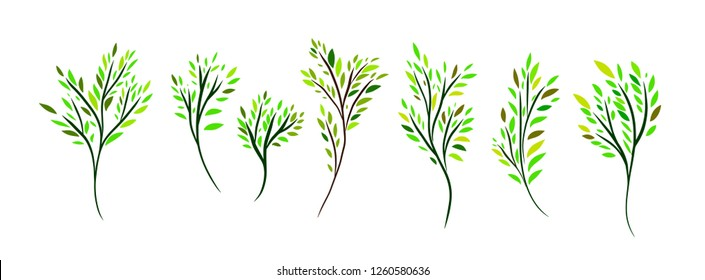 A set of decorative branches