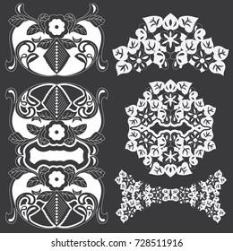 Set of decorative design elements.