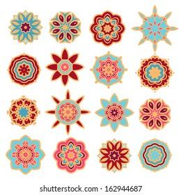 Set of decorative elements