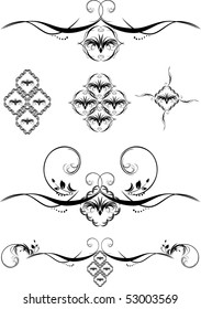 Set of decorative elements for design. Vector