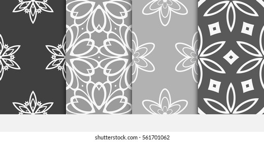 set of decorative floral ornament. seamless modern geometric pattern. Abstract Background Design. for design, wallpaper, invitation, fabric, decor.