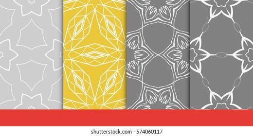 set of decorative floral seamless pattern. vector illustration. for invitation, greeting card, wallpaper, interior design