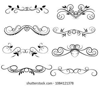 Set of decorative florish dividers, borders