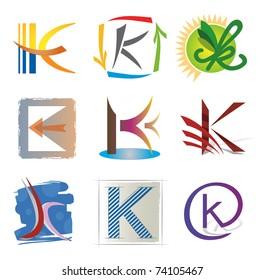 Set of Decorative Letter S Icons / Elements for Logo Design