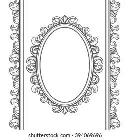 set of decorative vintage design elements