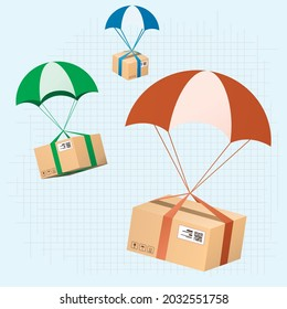set of delivery box vector illustration