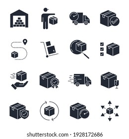 Set of Delivery logistics icon. shipping pack symbol template for graphic and web design collection logo vector illustration