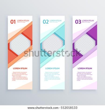 set design clean banners templategraphic website stock vector