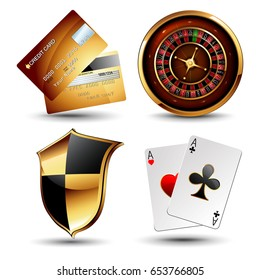 set of design elements for advertising a casino