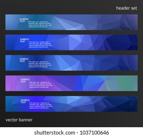 Set Design elements business presentation template. Vector illustration horizontal web banners background, backdrop abstract blurry form. EPS 10 for web buttons template, web site page presentation