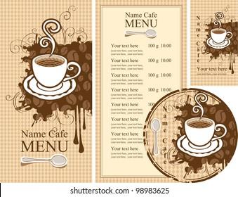 set of design elements for the cafe