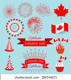 Set design elements for celebrate the national day of Canada