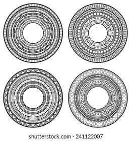 Set of Design Elements. Patterned Circles