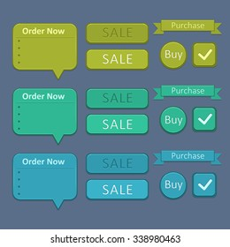 Set of design elements - sale and buy