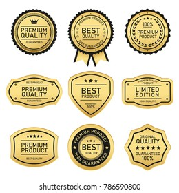 set of design labels best quality and premium quality