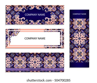 Set of design templates for flyers. Template of cover design color pattern. Colored vector illustration for corporate identity, form style.