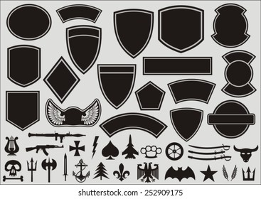 Set for designing of military patches