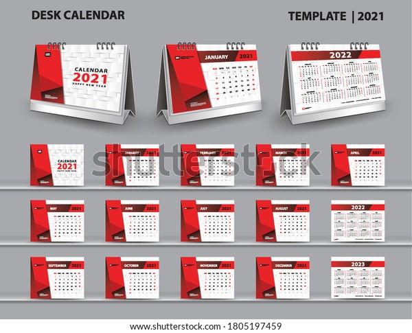 Calendrier Bureau 2022 Définir le modèle Calendrier de bureau : image vectorielle de