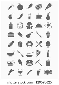 set of detailed food icons
