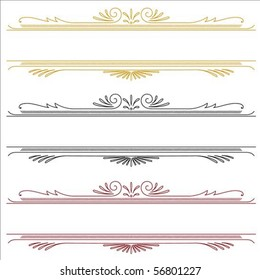 Set of detailed Victorian ornaments. Easy to edit.