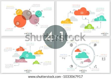 set diagrams colorful translucent circles 450w 1033067917 set diagrams colorful translucent circles clouds stock vector