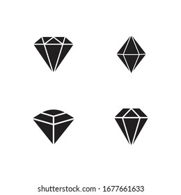 Set Of Diamond Logo Template vector icon illustration design